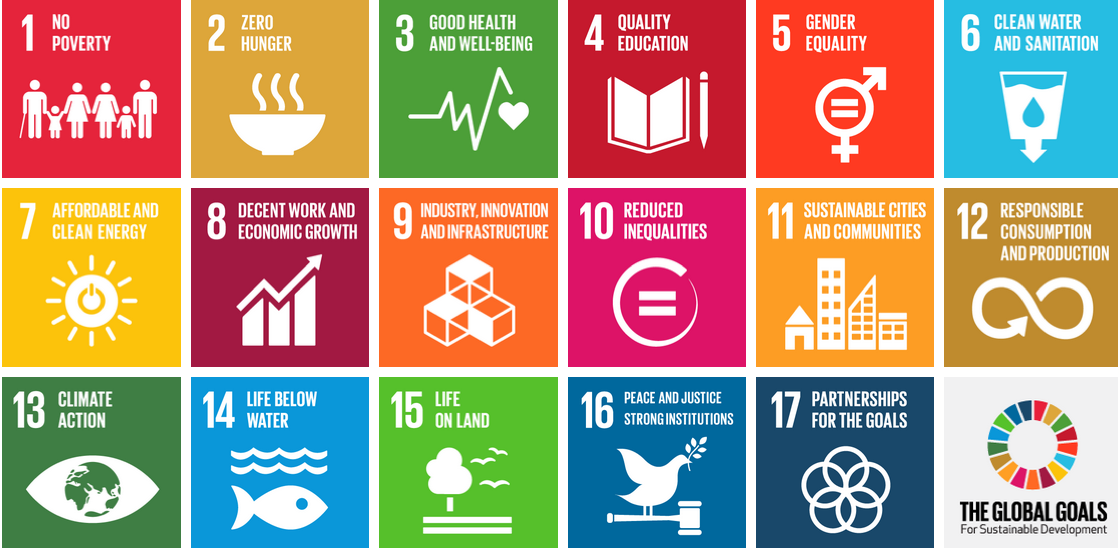 17 Goals for Sustainable Development